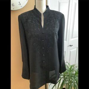 Pantsuit Dressy Black Embellished Vintage